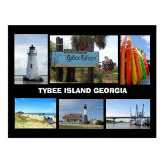 Het Eiland van Tybee, het Briefkaart van Georgië