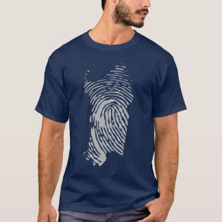 Het eilandvingerafdruk van Sardinige T Shirt