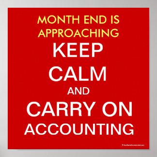 Het Eind van de maand/blijft rekenschap geven - Vi Poster