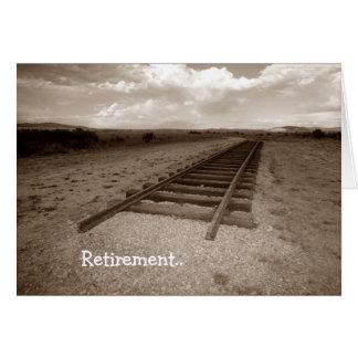Het eind van de Pret van de Spoorweg van de Wenskaart