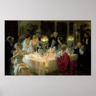 Het eind van Diner, 1913 Poster