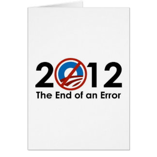 Het Eind van Obama van een FOUT Wenskaart