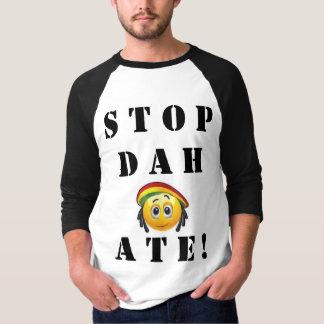 """Het einde Dah at! """"De basisbal t einde van de T Shirt"""