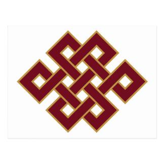 Het eindeloze Symbool van de Knoop Briefkaart