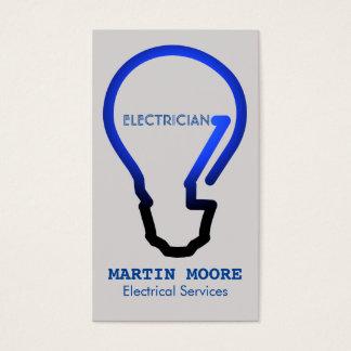Het electical blauw van de de diensten gloeilamp visitekaartjes