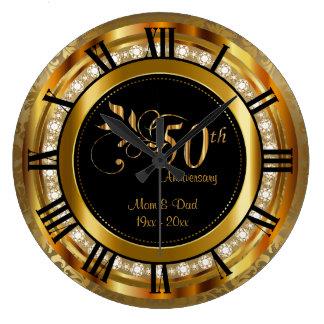 Het elegante 50ste Gouden Jubileum van de Diamant Ronde Klok Large