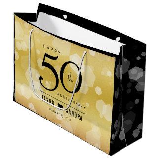 Het elegante 50ste Jubileum van de Gouden bruiloft Groot Cadeauzakje