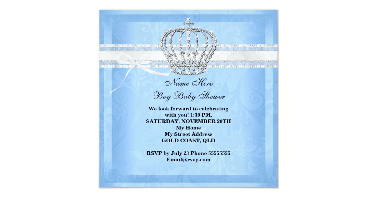 Het elegante blauw van de jongen van het baby 13 3x13 3 vierkante uitnodiging kaart zazzle - Turquoise ruimte van de jongen ...