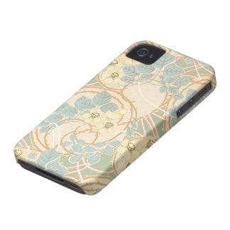 het elegante bloemenpatroon van de Jugendstilzomer iPhone 4 Hoesje