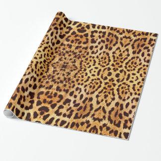 Het elegante bont van de luipaard inpakpapier