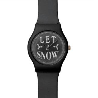 Het elegante Bord van de Winter liet het sneeuwen Horloge