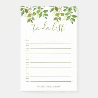 Het elegante Botanische Huwelijk van het Groen om Post-it® Notes