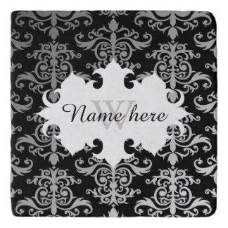 Het elegante damastpatroon personaliseerde met trivet