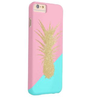 het elegante de zomergoud schittert ananas roze barely there iPhone 6 plus hoesje