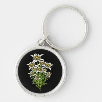 Het elegante Edelweiss bloeit Zeer belangrijke Ket Sleutelhanger