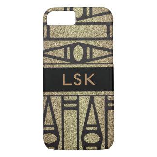Het elegante en elegante goud met monogram iPhone 8/7 hoesje