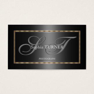 Het elegante Geometrische Gouden Grijze Zwarte Visitekaartjes