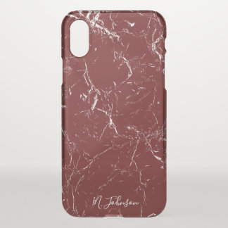 Het elegante Gepersonaliseerde Marmer van iPhone X Hoesje
