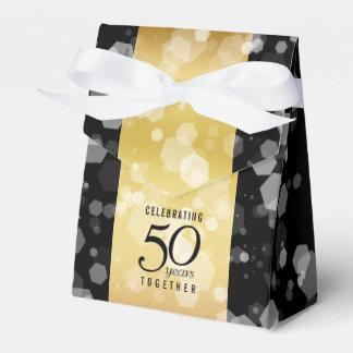 Het elegante Gestreepte 50ste Jubileum van de Bedankdoosjes