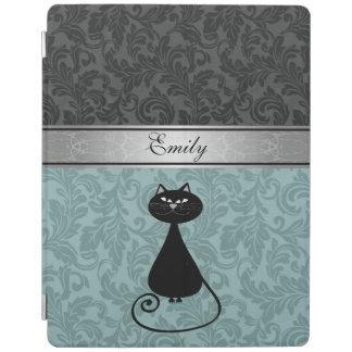 Het elegante girly trendy monogram van de damast iPad cover