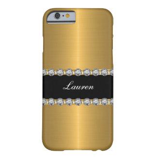 Het elegante Glitzy Gesimuleerde Monogram van het Barely There iPhone 6 Hoesje