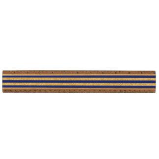 Het elegante Goud Faux schittert en het Blauwe Esdoorn Liniaal