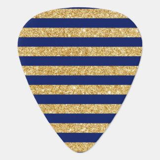 Het elegante Goud Faux schittert en het Blauwe Plectrum