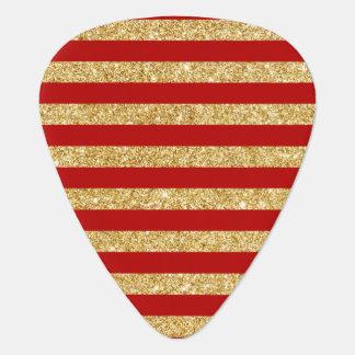 Het elegante Goud Faux schittert en het Rode Plectrum