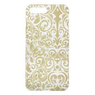 Het elegante Goud schittert Bloemen Transparant iPhone 7 Plus Hoesje