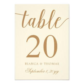 Het elegante Gouden Aantal van de Lijst van het 12,7x17,8 Uitnodiging Kaart
