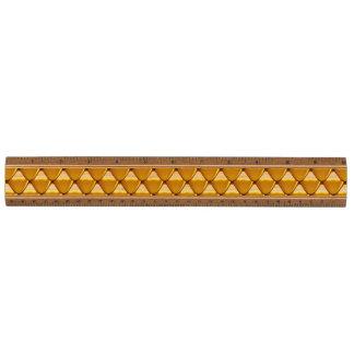 Het elegante Gouden Patroon van de Schaal Esdoorn Liniaal