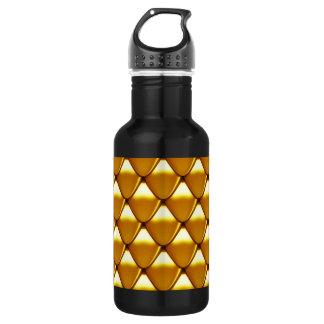 Het elegante Gouden Patroon van de Schaal Waterfles