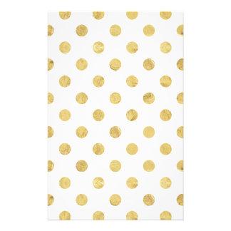 Het elegante Gouden Patroon van de Stip van de Briefpapier