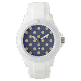 Het elegante Gouden Patroon van de Stip van de Horloge