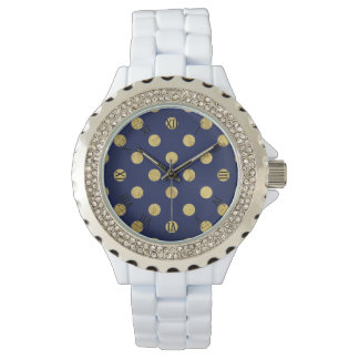 Het elegante Gouden Patroon van de Stip van de Horloges