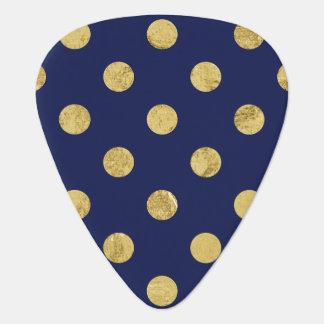 Het elegante Gouden Patroon van de Stip van de Plectrum