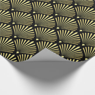 Het elegante Gouden Patroon van de Ventilator van Cadeaupapier