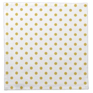Het elegante Gouden Patroon van Stippen op Wit Servet