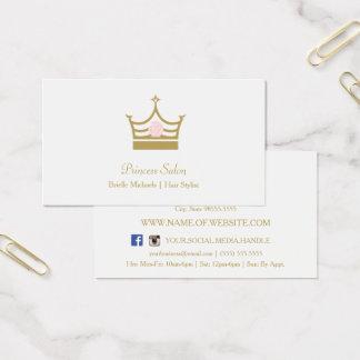 Het elegante Gouden Roze van de Kroon van de Visitekaartjes