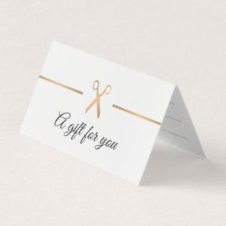Het elegante Gouden Witte Certificaat van de Gift