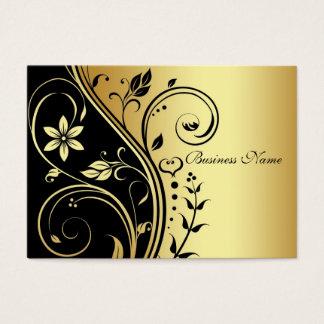 Het elegante Gouden & Zwarte Visitekaartje van de Visitekaartjes