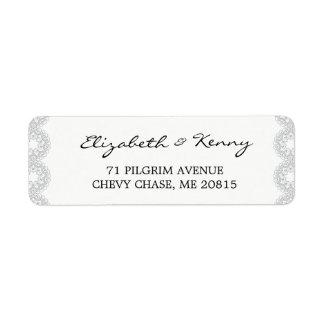 Het elegante Grijze Etiket van het Adres van de