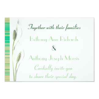 Het elegante Groene en Witte Calla Huwelijk van de Kaart
