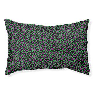 Het elegante Groene & Paarse Patroon van de Druk Hondenbedden