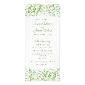 Het elegante groene vintage programma van het 10,2x 22,9 cm reclamekaart