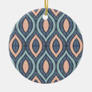 Het elegante Hand-drawn SierOrnament van   Rond Keramisch Ornament