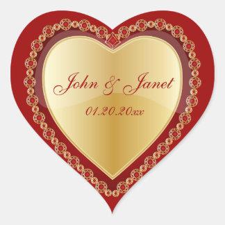 Het elegante Hart van het Juweel van de Liefde Hart Sticker