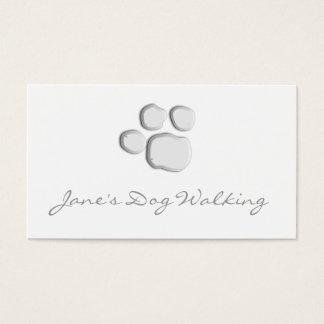 Het elegante het Lopen van de Hond Visitekaartje Visitekaartjes