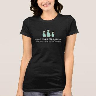 Het elegante het Schoonmaken Logo van de Fles van T Shirt