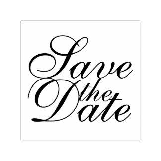 Het elegante Huwelijk bewaart de Datum Zelfinktende Stempel